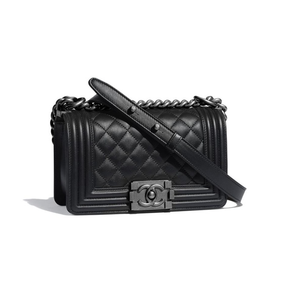 Chanel Handbags - Chanel Black Quilted Small Boy Bag 2CK1127